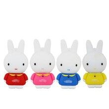 Top Quality Cartoon Mini Rabbit USB Flash Drive Key PenDrive 2GB 4GB 8GB 16GB 32G 64G USB 2.0 Flash Drive Memory Stick Gift