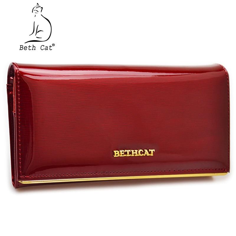 Beth Cat Portemonnee Vrouw Lange Portemonnees voor vrouwen Portemonnee Hoge kwaliteit Solide Lederen Vrouwelijke handtassen Hasp Dames Portemonnee
