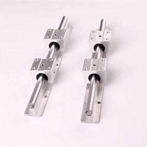Image 3 - 2Set SBR12 300 400 500 600 800 1000 1200 1300 1500mm Fully Supported Linear Rail Slide Shaft Rod With 4Pcs SBR12UU Bearing Block
