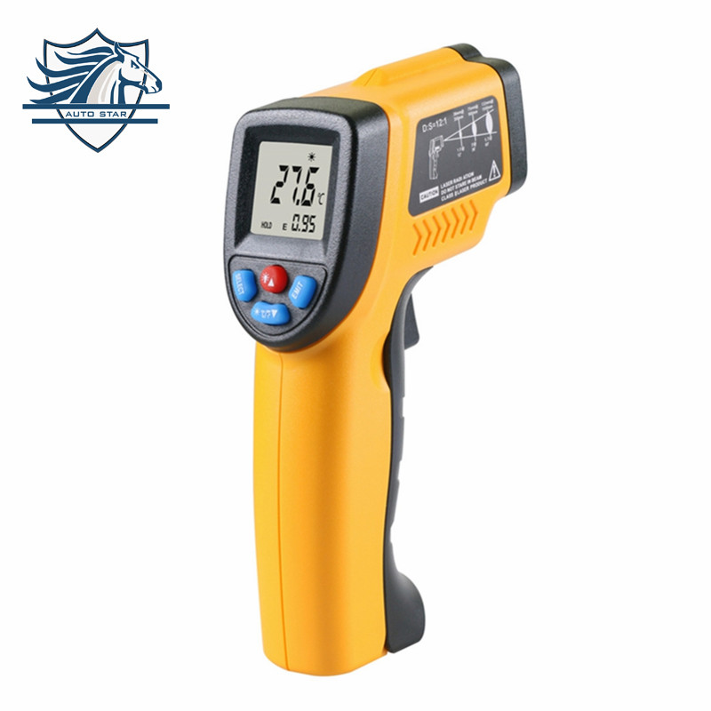 Digitale IT100 Laser Display LCD Senza Contatto a INFRAROSSI Termometro A Infrarossi-50 a 380 C Auto Misuratore di Temperatura del Sensore punto di pistola