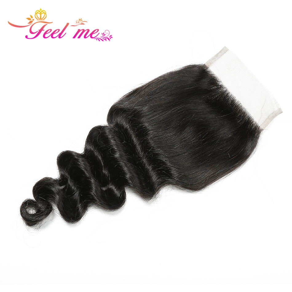 Image 5 - Loose Deep Wave Bundles With Closure FEEL ME Hair Brazilian Human Hair Bundles With Closure 3 Bundles Remy Hair With Closure-in 3/4 Bundles with Closure from Hair Extensions & Wigs