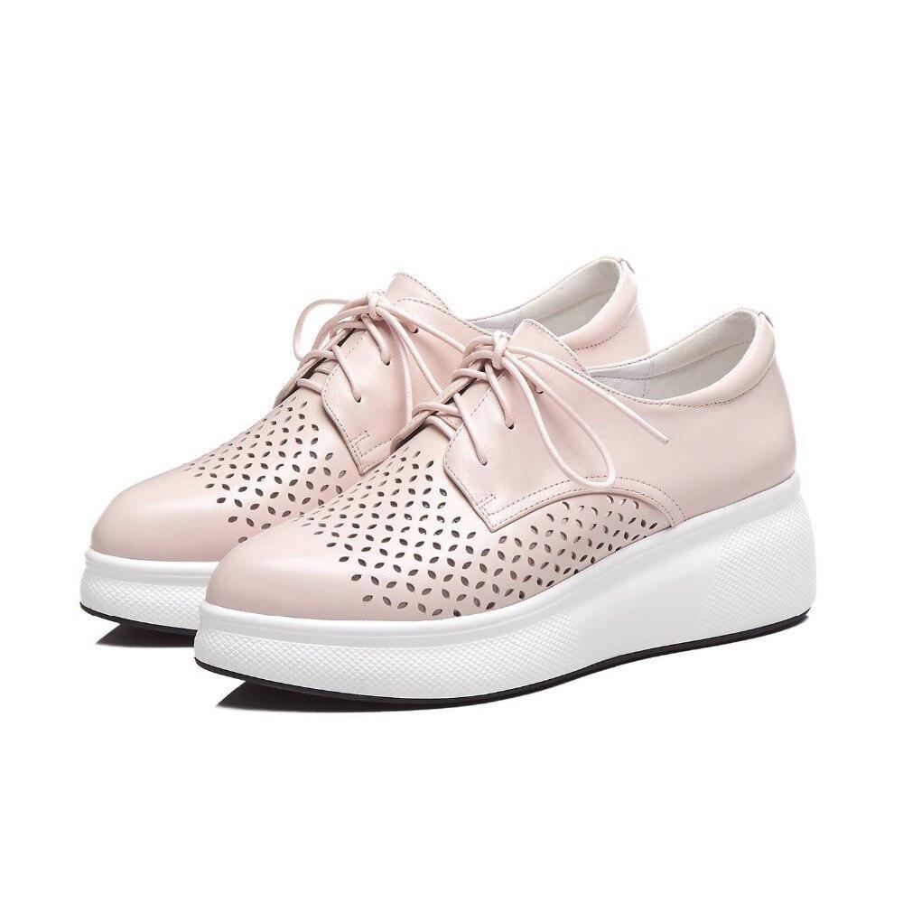 Ayakk.'ten Vulkanize Kadın Ayakkabıları'de Krazing Pot tam tahıl deri lace up sneakers iyi havalandırılmış kalın alt sivri burun oyma günlük giyim vulkanize ayakkabı L21'da  Grup 3