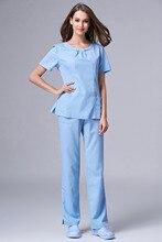 2018 Fashion Design Slim Fit Scrub Suit for Nurses