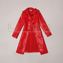 Women Leather Jacket Sale Full Tassel 2016 Autumn New Fashion Temperament Slim Single Breasted Long Jacket Coat Pu Women