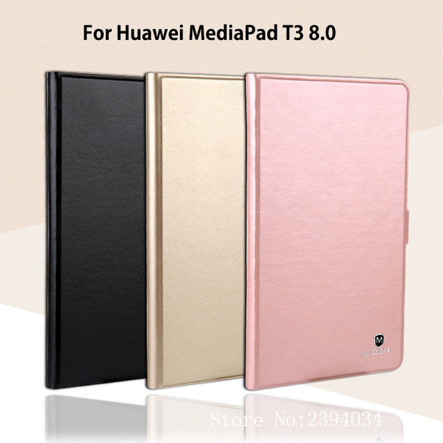 "Роскошные Тонкий чехол для Huawei MediaPad T3 8.0 kob-l09 kob-w09 принципиально Авто держатели для планшета чехол для Honor Play Pad 2 8.0 ""+ Плёнки + ручка"