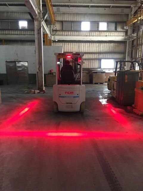 10pcs 48v 80v Safety Forklift Light With Red Or Blue Zone