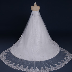 Image 4 - 2020 New Luxury Big Train Wedding Dress Sexy Crystals Beaded Bridal Gown Custom made Plus Size Wedding Gown