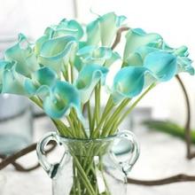 Искусственный цветок поддельные Калла лилии украшения яркие для свадьбы дома вечерние H99F