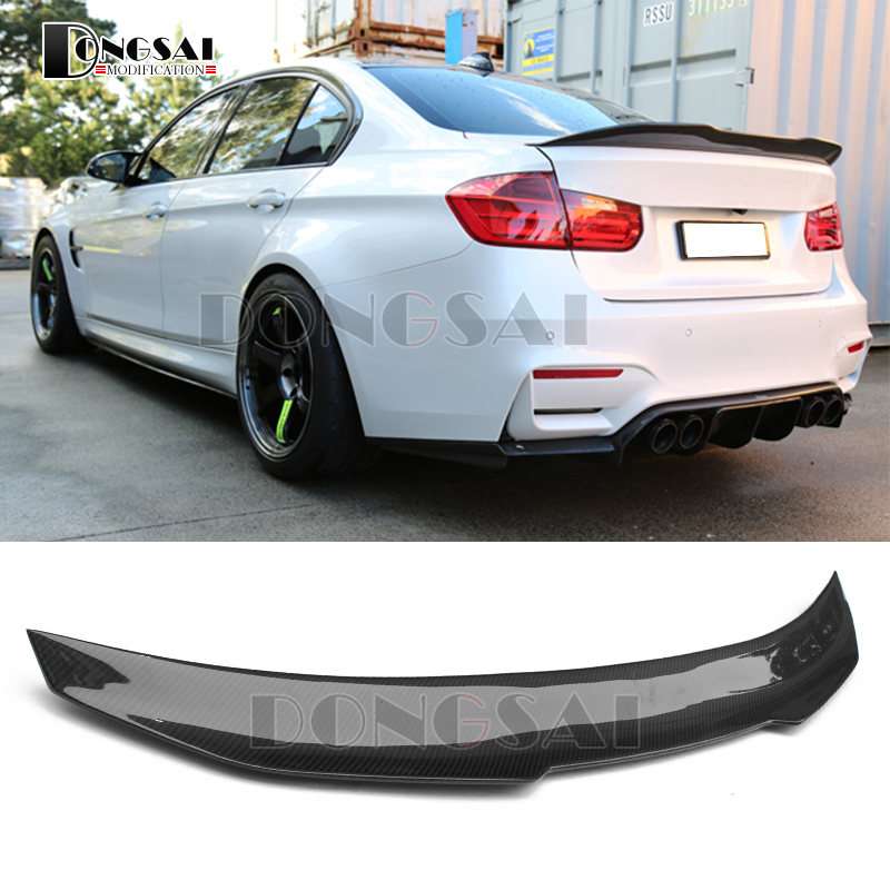 3 Series F30 Carbon Fiber Gloss Black Rear Trunk Spoiler Wings Trunk Lip for BMW F30 F80 M3 2012+ 320i 325i 328i 335i купить в Москве 2019