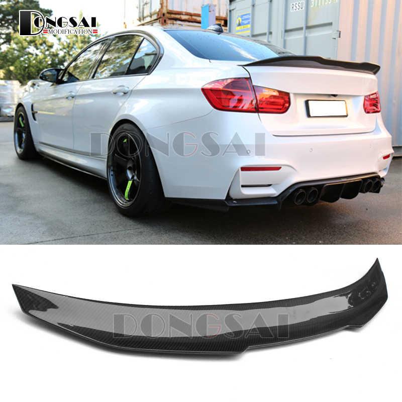 3 Series F30 Carbon Fiber Gloss Black Rear Trunk Spoiler Wings Trunk Lip  for BMW F30 F80 M3 2012+ 320i 325i 328i 335i
