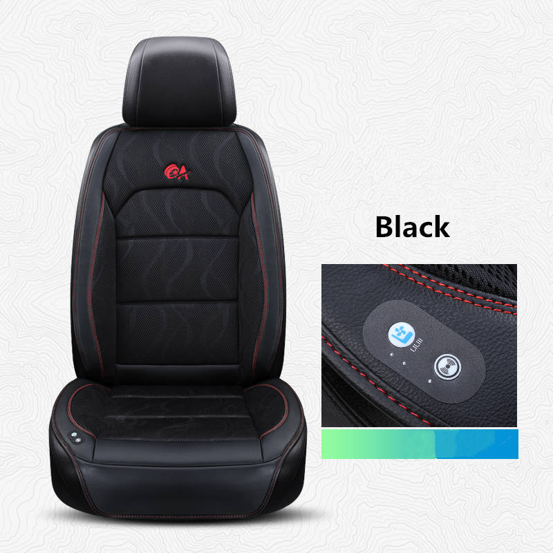 Summer ice silk cool pad seat ventilation cushion air conditioning refrigeration car seat with 6fans hair
