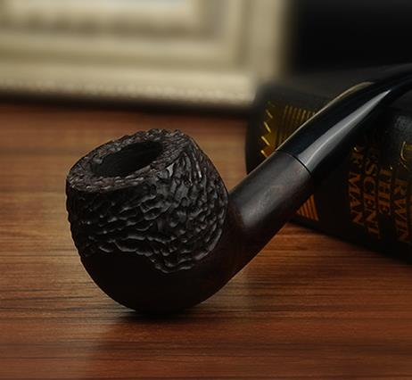 2017 Ebony wood pipe China dedicated filtration bucket briar pipe tobacco smoking suits for men cigarette Wooden Pipe LH0114