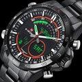 Hombres LED relojes NAVIFORCE marca de lujo completo del cuarzo del acero LCD reloj Digital reloj militar del ejército Sport reloj relogio masculino