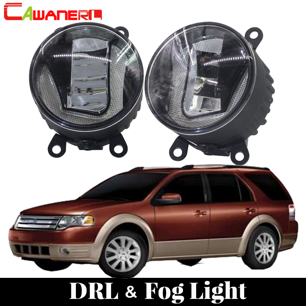 Cawanerl 2 X Car Accessories LED Bulb Fog Light DRL Daytime Running Lamp White 12V Styling For Ford Taurus X 3.5L V6 2008 2009 cawanerl 2 x 100w h11 car halogen bulb fog light daytime running lamp drl 12v styling for nissan x trail t30 t31 2001 2015