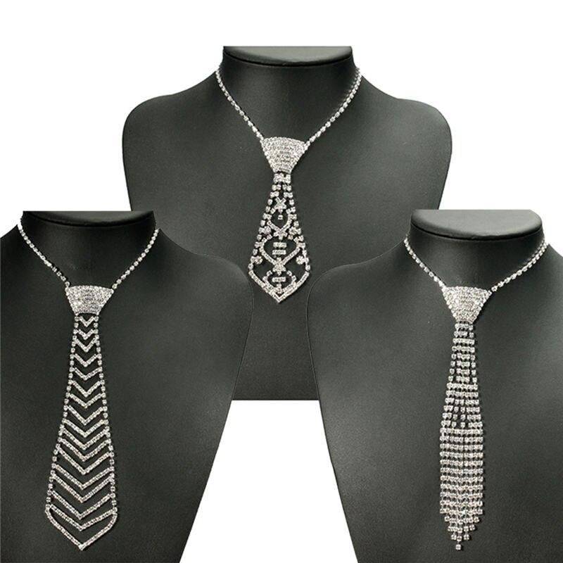 online buy wholesale rhinestone necktie necklace from
