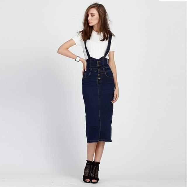 c0e5b5ef401 Online Shop 2016 Summer Style Loose Sweet Jeans Dress Women Washed  Suspender Denim Sundress Denim Overall Dress Color Blue For 40-200KG Wear