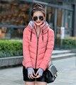 Хлопка ватник, Моды короткий стиль с капюшоном зимняя куртка женщин, пальто, парки для женщин зимой, женщина пальто, ветровки TT1171