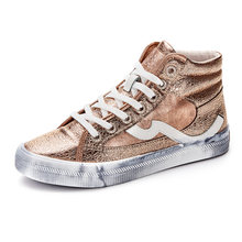 f13601a1417b New Arrival Fashion Girl High Top Sneakers Rose Gold Canvas Casual Shoes  Women s Vulcanize Shoes 2019