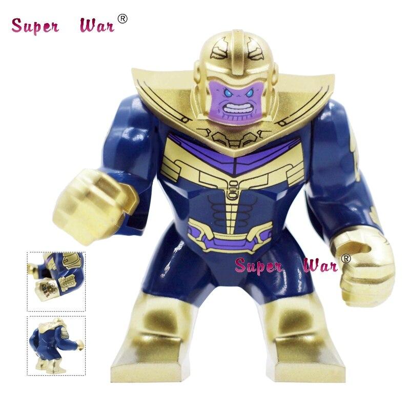 50pcs Marvel Avengers 3 Infinity War Thanos Infinity Gauntlet Captain America Iron Man building block for