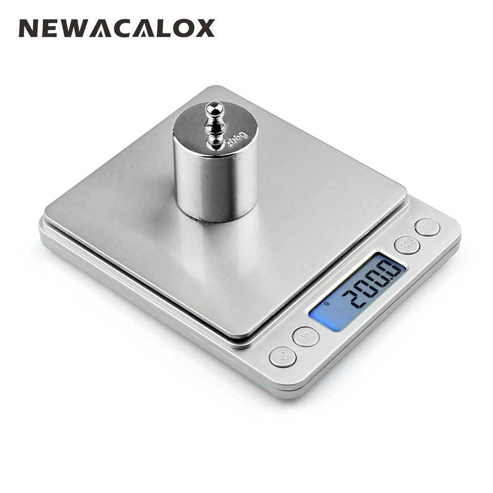 NEWACALOX 3000g x 0.1g Digital Pocket Scale 3kg-0.1 3000g/0.1 Jewelry Scales Electronic Kitchen Weight Scale цены
