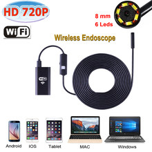 Stardot WiFi Endoscope Camera Waterproof 8mm Lens cable iphone endoscope camera IOS android with 6 led mini wifi endoscope(China)