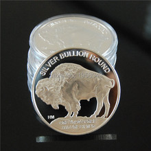 Sample order,3pcs/lot free shipping Silver Coin 2015 Liberty Indian Head Buffalo Ag.999 Plated Coins Bullion