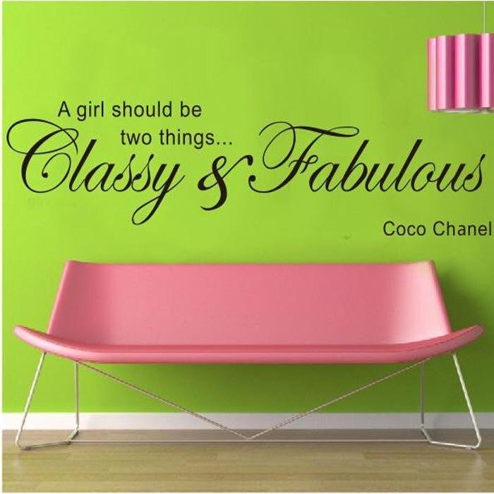 Citaten Coco Chanel : New design cm coco chanel live love decal removable