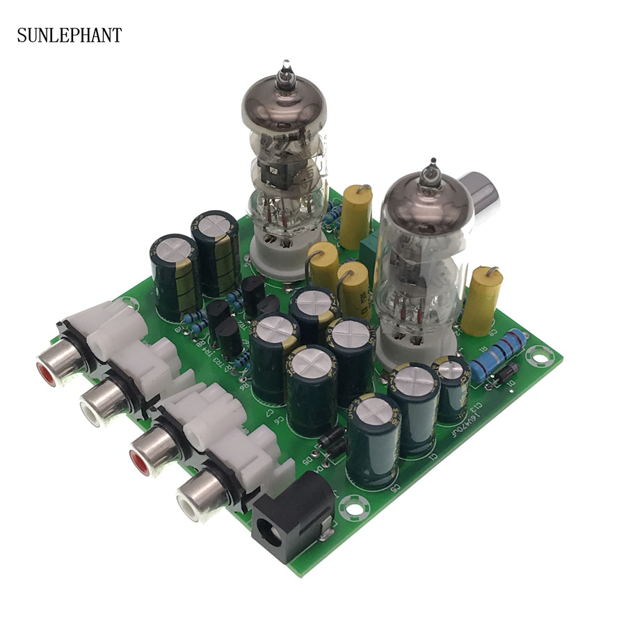 Fever 6J1 tube preamp amplifier board Pre amp Headphone amp 6J1 valve  preamp bile buffer diy kits-in Integrated Circuits from Electronic  Components &