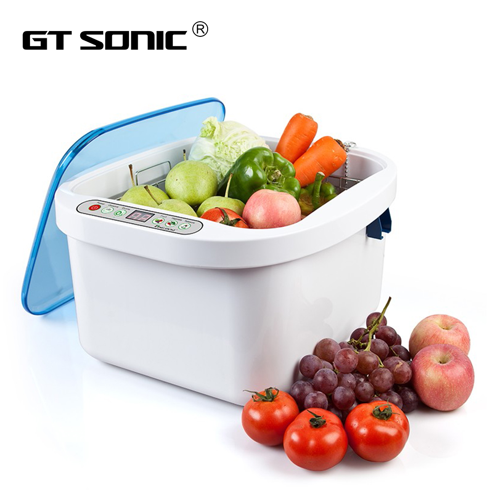 GTSONIC KD 6002 Ultrasonic Cleaner Ozone Sterilizer 12 8L for Fruit Vegetable Meat Fish Dinner Dishes