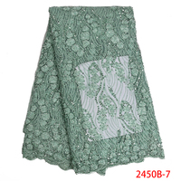 Hot Sale 2019 African Tulle Lace with Beads High Quality Luxury Lace Fabric 3D French Handmade Beaded Lace for Dress APW2450B 1