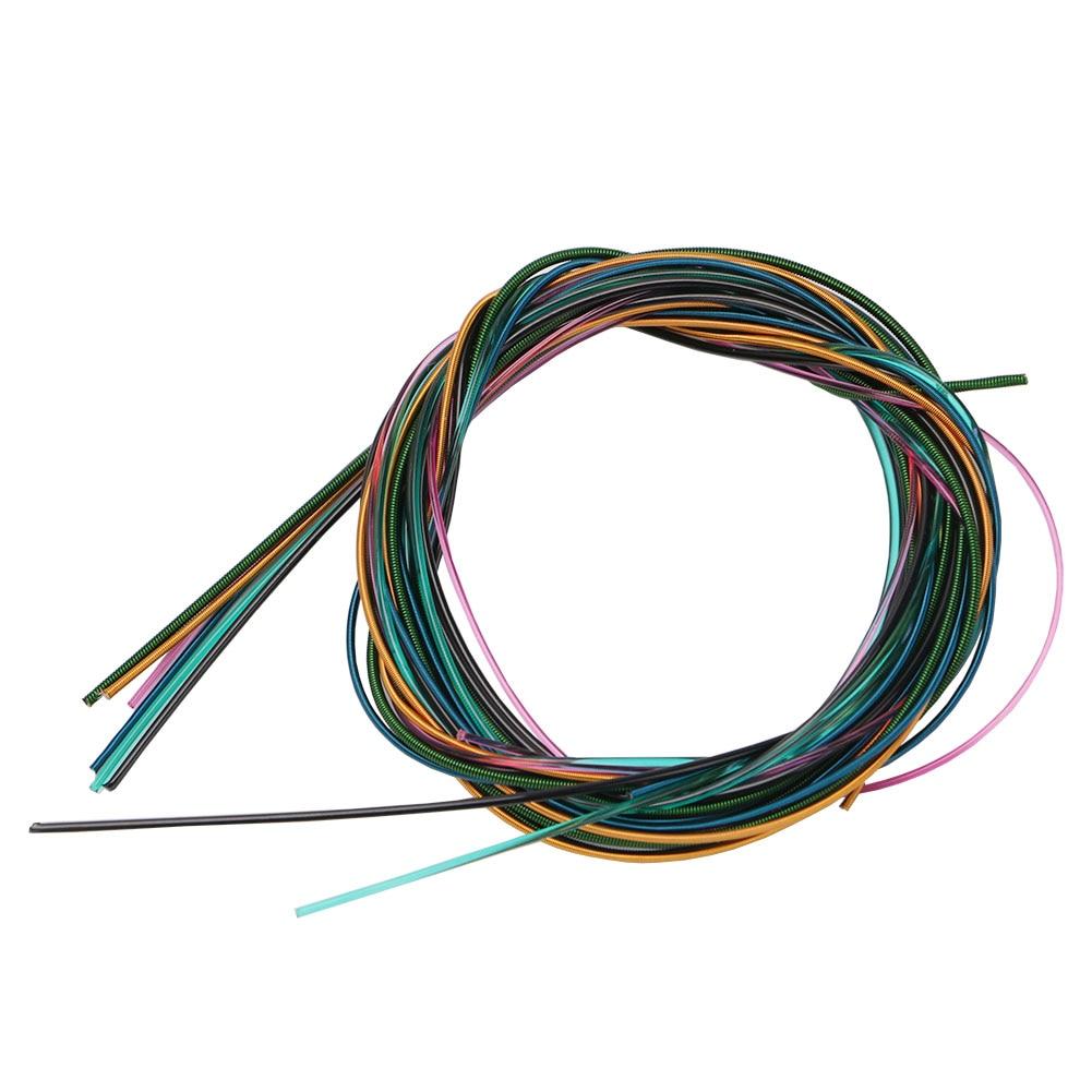 6 Pcs/set Colorful Nylon Guitar Strings Copper Alloy Strings For Acoustic Folk Guitar Classic Guitar