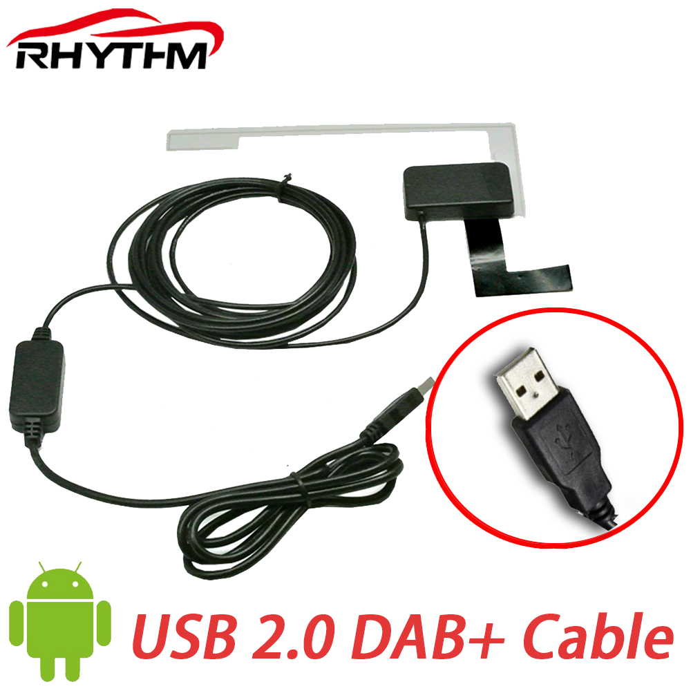 Europe DAB/DAB+ receiver android <font><b>usb</b></font> dab for Universal Car DVD DAB Car Radio Tuner Receiver DAB+ <font><b>antenna</b></font> <font><b>usb</b></font> cable Digital audio image