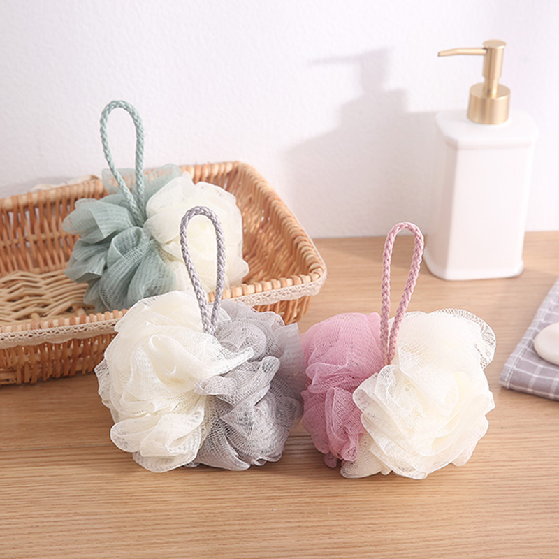 Bath & Shower Flamingo Bath Towel Scrubber Body Cleaning Mesh Shower Wash Product Bath Ball Bathsite Bath Tubs Cool Ball Beauty & Health