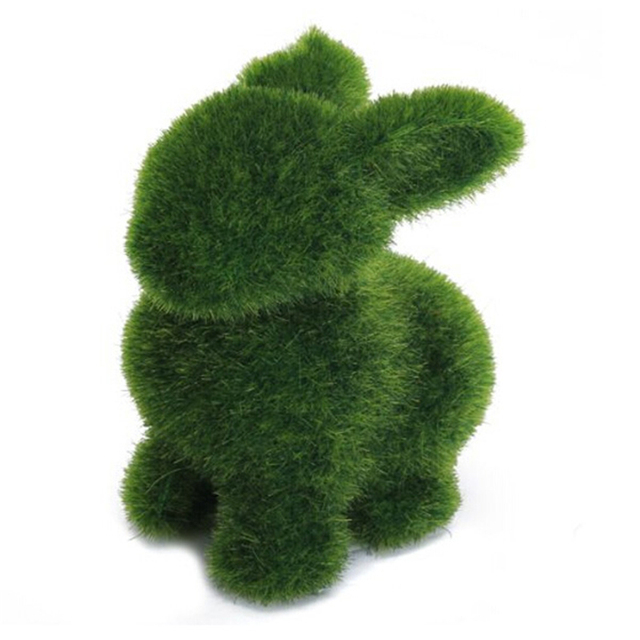 Novelty handmade artificial turf grass animal easter rabbit home novelty handmade artificial turf grass animal easter rabbit home office ornament room office decor baby kids negle Images
