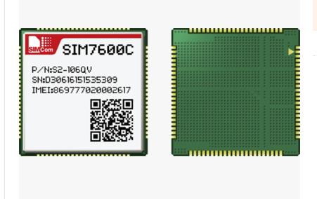 Sim7600c LTE TDD/FDD LTE/HSPA +/td-scdma bi-bande GSM/GPRS/EDGE
