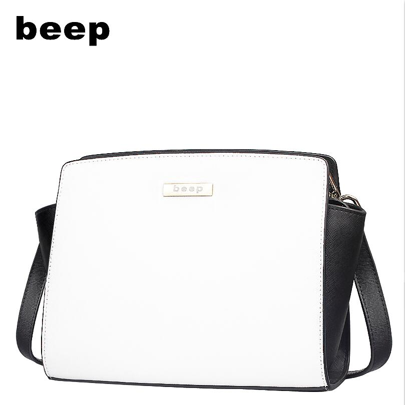 Beep Brand 2017 New Superior cowhide Luxury fashion Genuine Leather bag women leather shoulder messenger bag women's bag beep 2018 new superior cowhide fashion women genuine leather bag simple women leather shoulder bag women s bag