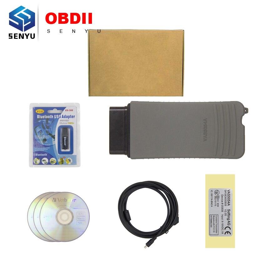Цена за Горячие Продажи V4.0.0 Bluetooth с OKI Чип VAS5054 VAS 5054a ODIS V3.0.3 Диагностический Сканер vas5054a Bluetooth Поддержка UDS Протокола