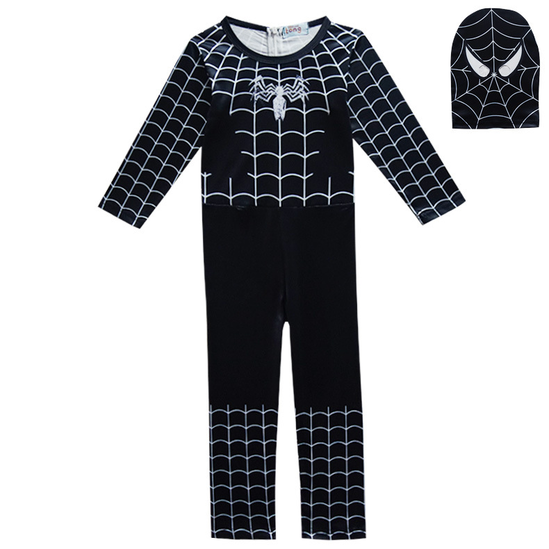 Halloween Costume Red Black Spiderman Batman Superman Costumes for kids Superhero Capes Anime Cosplay Carnival Clothing 3-110Y
