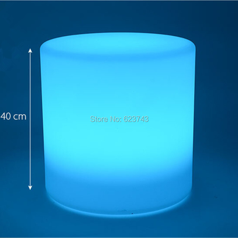 Outdoor waterproof rechargeable LED round barstool remote control Cylinder luminous bar chair VALSE comfortable seat in Novelty Lighting from Lights Lighting