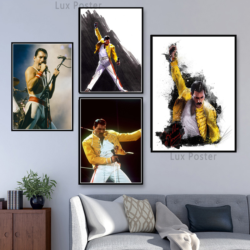 Queen Freddie Mercury Bohemian Rhapsody Art Canvas Poster Painting Wall Picture