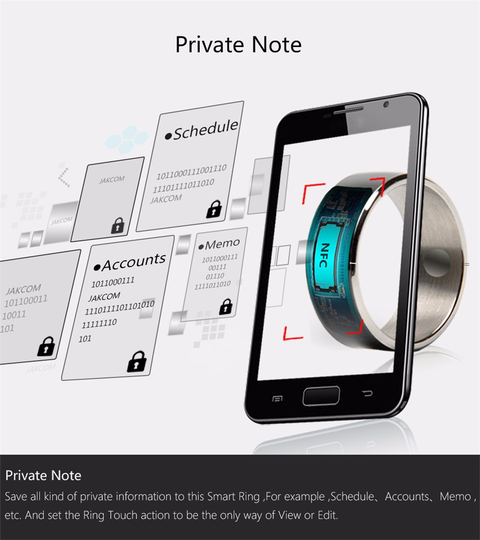 Jakcom R3F Smart Ring For High Speed NFC Electronics Phone Smart Accessories 3-proof App Enabled Wearable Technology Magic Ring 10
