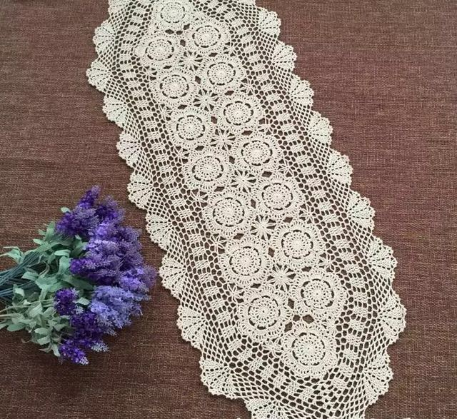 Outstanding Us 16 0 90 150 180 250Cm Shabby Chic Cottage Crocheted Vintage Table Runner In Table Runners From Home Garden On Aliexpress Com Alibaba Group Download Free Architecture Designs Remcamadebymaigaardcom