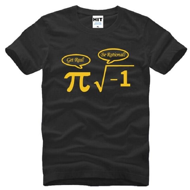 b906ef24a Be Rational Get Real Nerdy Geek Pi Nerd T Shirts Men Cotton Cool Math Nerd  Printed Short Sleeve Man T-Shirt Funny Male Top Tees
