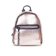 Luxury Women Backpacks Falabellas Small Casual Shoulder Bags Gilr School Punk Backpacks PU Leather Chain Travel