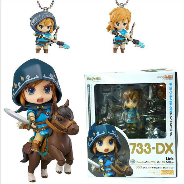 Good Smile Nendoroid Link Zelda Figure Breath of the Wild Ver DX Edition Deluxe Version Action Figure zenfone 2 deluxe special edition