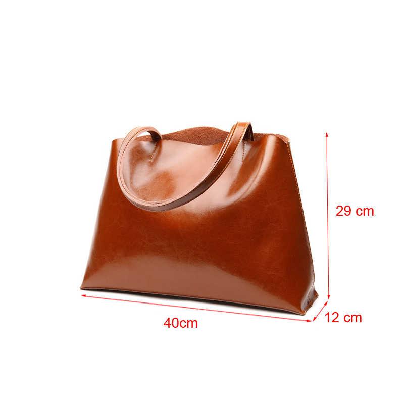 DIENQI doux en cuir véritable femme sacs à bandoulière 2018 grande capacité Vintage femmes en cuir sacs à main pour parti rétro fourre-tout Sac