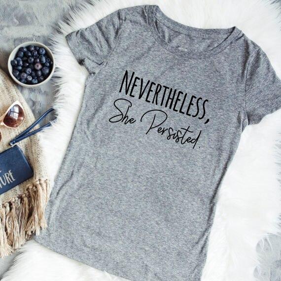 Dennoch Sie Blieb Unisex T Männer und frauen Feministischen mode tops grunge ästhetischen camiseta tumblr goth baumwolle t-shirt