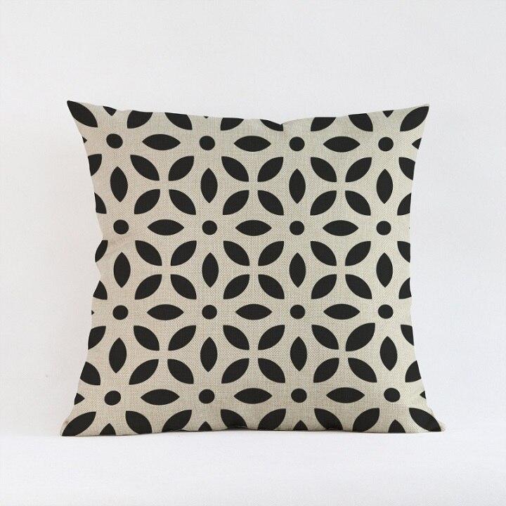 Geometric Cotton 18 Linen Pattern Decor Cushion Pillow Throw Case Home Cover Home Décor Home Garden