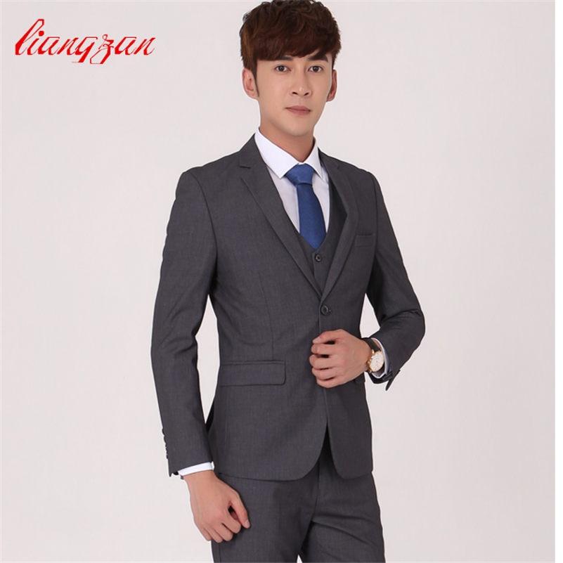 (Jacket+Pant+Vest+Tie) Men Business Suit Sets Tuxedo Formal Fashion Slim Fit Wedding Dress Suits Blazer Brand Party Masculinas