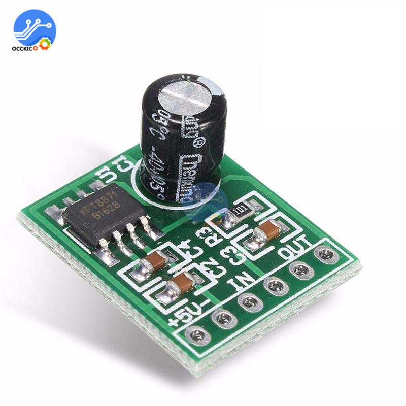 XH-M125 XPT8871 Mono Amplifier Board DC 5V 1A 5W Audio Placa Amplificador Mini Speaker Sound Board Volume Control